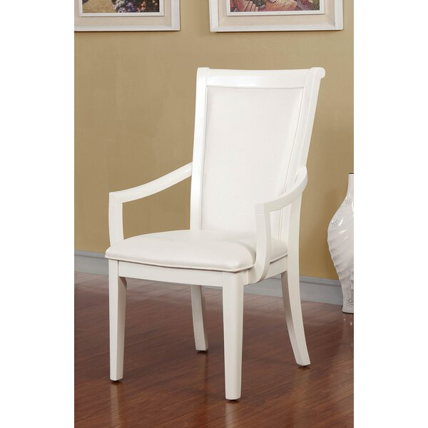 Hampson Wooden Leatherette Armchair (Set of 2) by Red Barrel Studio