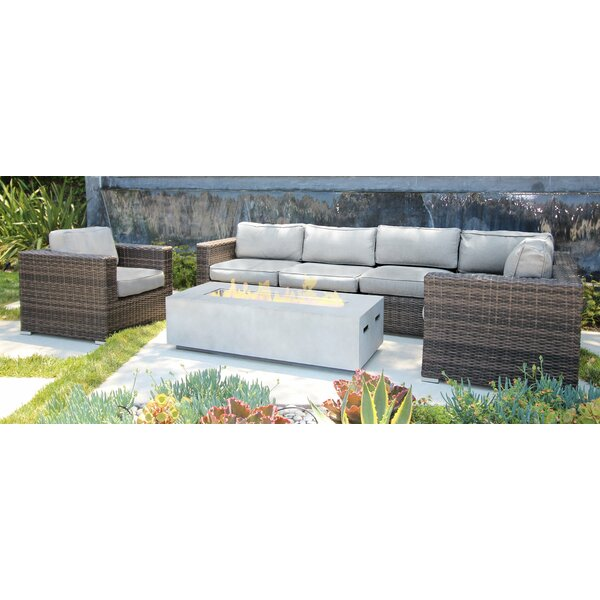 Bracknell 7 Piece Rattan Sectional Seating Group with Cushions by Brayden Studio