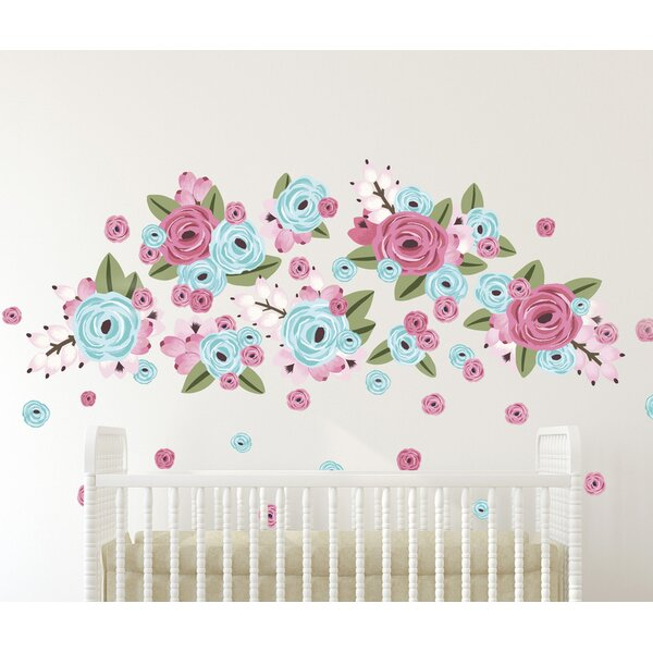 Bubble Gum Graphic Flower Wall Decal by Urban Walls