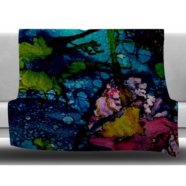 Sharks Cove by Abstract Anarchy Design Fleece Blanket by East Urban Home