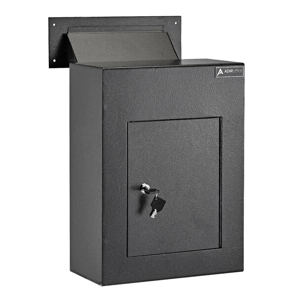 Through The Wall Drop Box Depository Safe With Key Lock by AdirOffice
