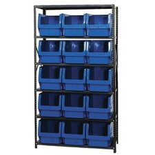 Six Shelves for Small Giant Open Hopper Magnum Storage Unit by Quantum Storage