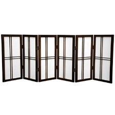 26 Desktop Leivai Screen 6 Panel Room Divider by Bungalow Rose