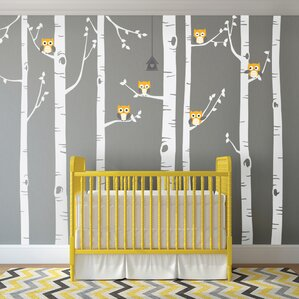 Trees And Flower Wall Decals Youll Love Wayfair - Nursery wall decals tree