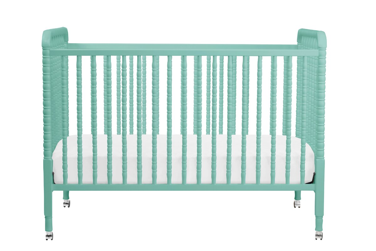 modern portable  mini cribs  allmodern - jenny lind in convertible crib with conversion kit