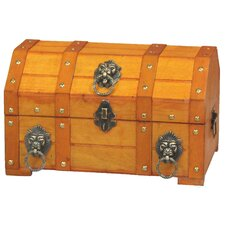 Pirate Treasure Chest with Lion Rings by Quickway Imports