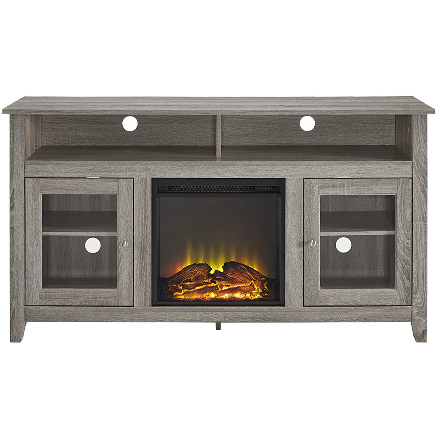 Darby Home Co Isabel Highboy 58 Tv Stand With Electric Fireplace Reviews