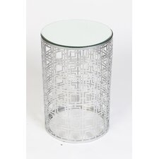 Geometric Drum End Table by Knox & Harrison