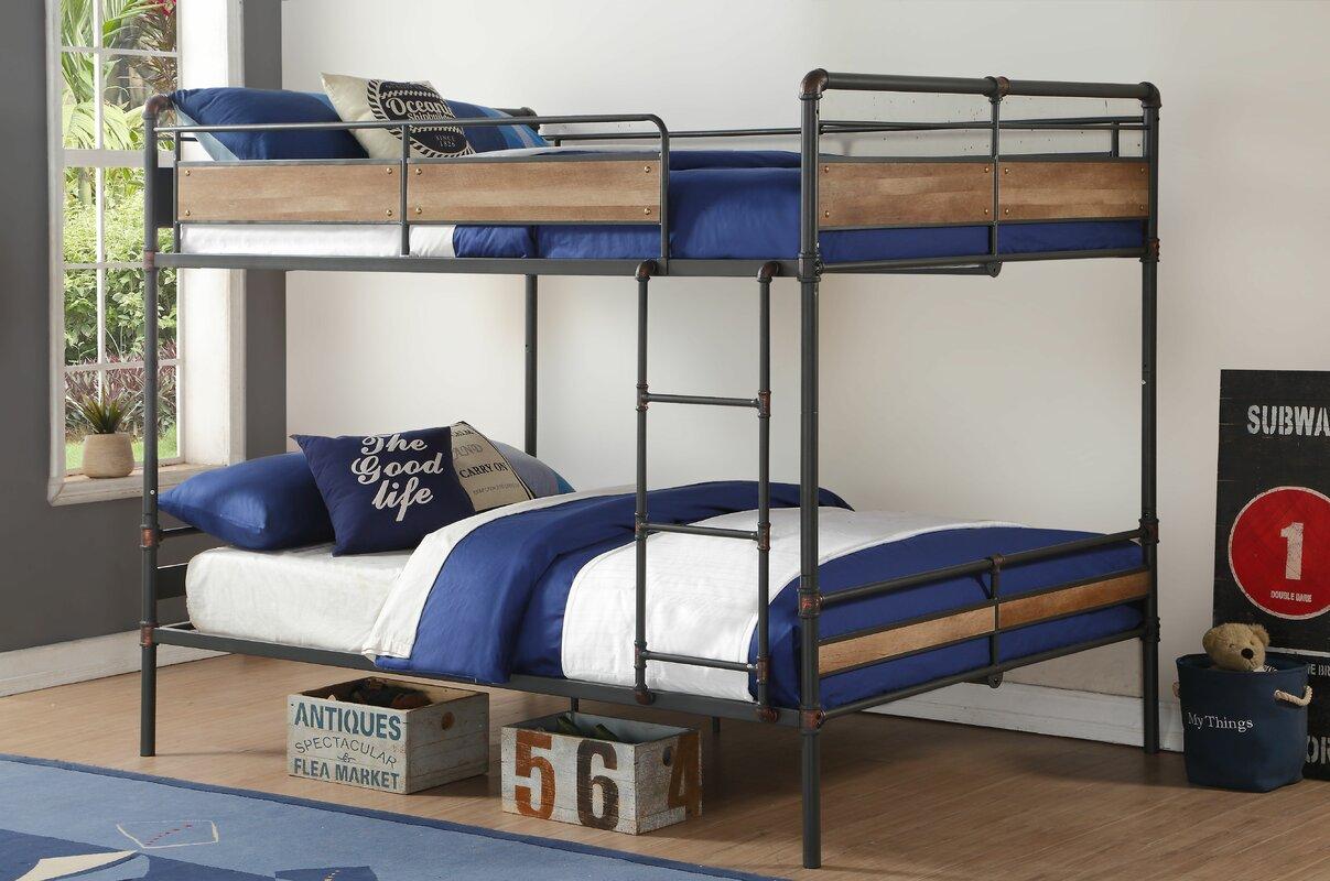 acme furniture brantley ii queen over queen bunk bed | wayfair