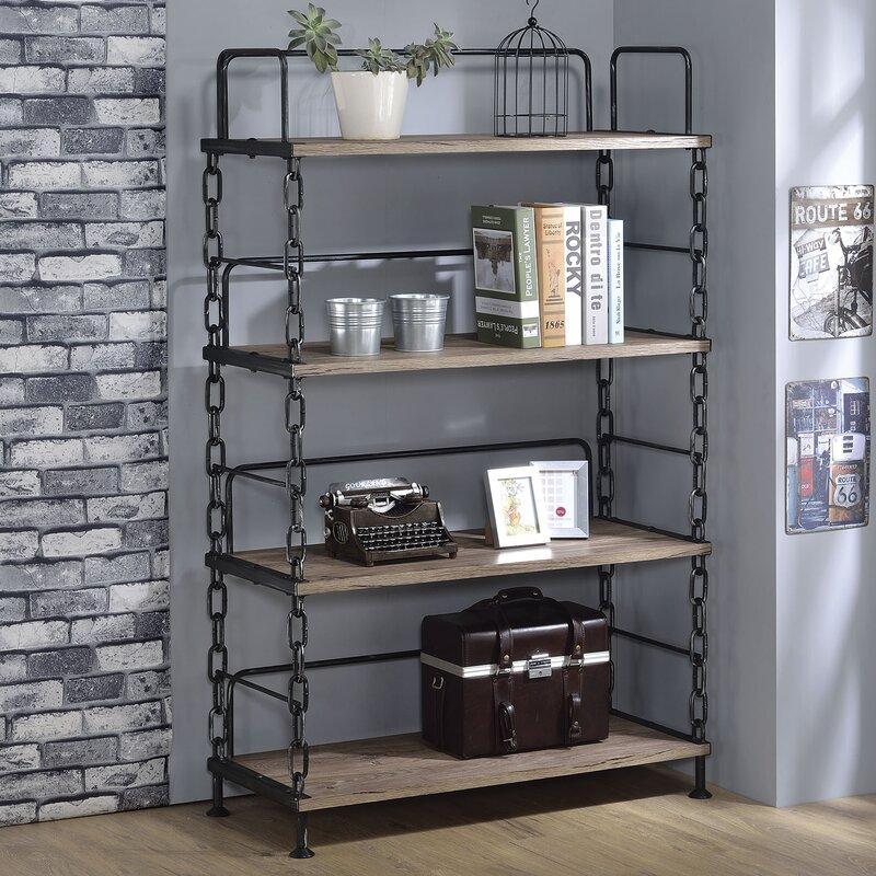 "acme furniture jodie 59"" etagere bookcase & reviews | wayfair"