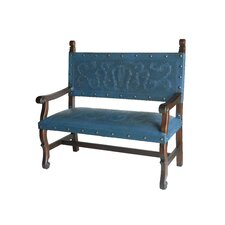 Spanish Heritage Leather Entryway Bench by New World Trading