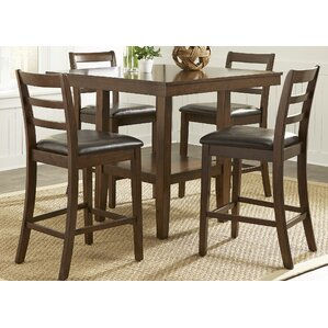 Gosselin Contemporary 5 Piece Counter Height Dining Set  High Top Dining Room Table