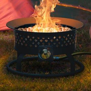 Aurora Steel Gas Outdoor Fireplace
