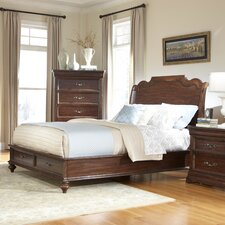 Signature Storage Platform Bed by American Woodcrafters