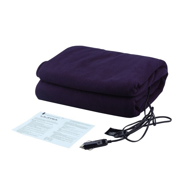 12V Heated Travel Fleece Throw by Ultra Performance