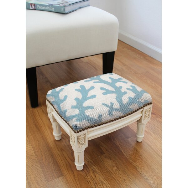 Ryland Fern Ottoman by Rosecliff Heights Rosecliff Heights