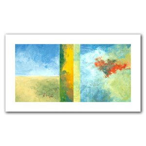 Textured Earth Panel IV' by Jan Weiss Painting Print on Rolled Canvas by ArtWall