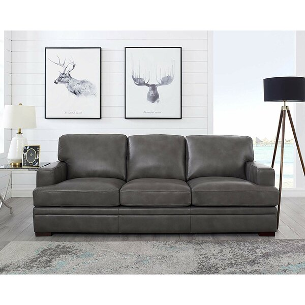 Best Price For Werner Leather Sofa by 17 Stories by 17 Stories
