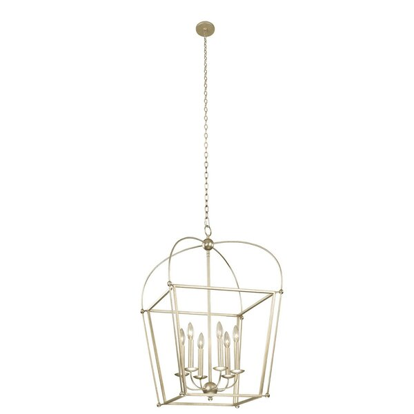 Crandon 8 - Light Lantern Square Chandelier By Gracie Oaks