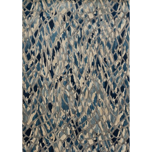 Dangelo Blue/Beige Area Rug by Wrought Studio