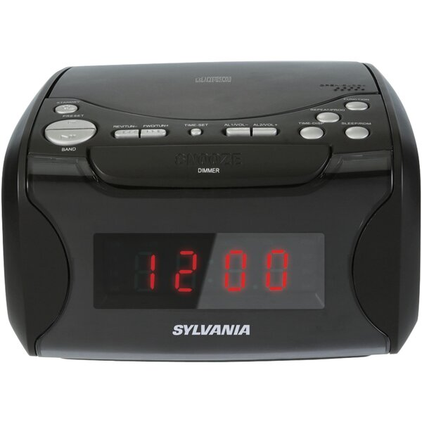 USB-Charging CD Tabletop Clock by Sylvania