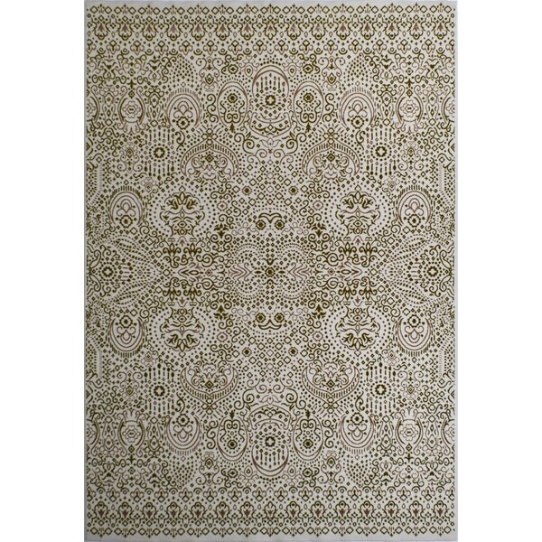 Helena Artistic Transitional Cream/Beige Area Rug by CosmoLiving by Cosmopolitan