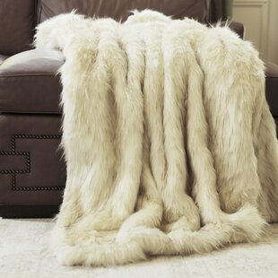 Iced Fox Faux Fur Throw Blanket