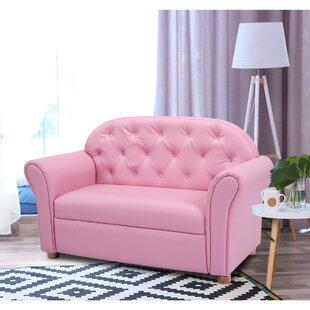 Ruiz Armrest Couch Kids Sofa With Flip Open