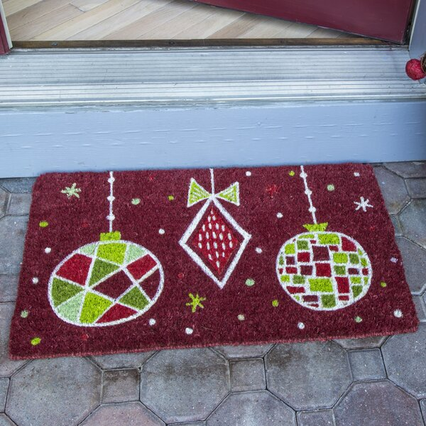 Geo Ornaments Handwoven Coconut Fiber Doormat by T