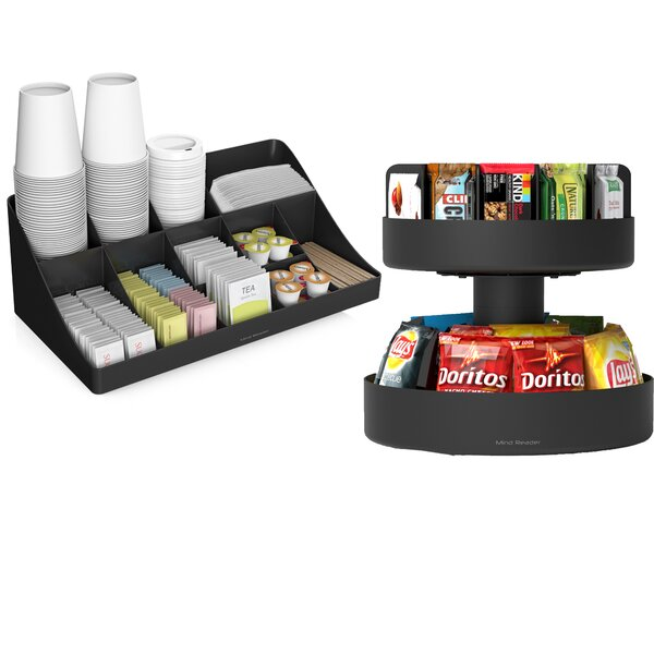 Coffee Condiment and Snack Organizer by Mind Reader