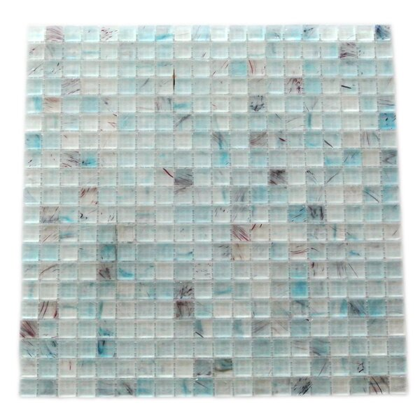 Amber 0.63 x 0.63 Glass Mosaic Tile in Sky Blue by Abolos
