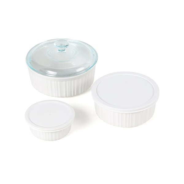 Drexel Round 6 Piece Casserole Set with Lids by Mint Pantry