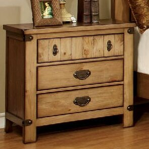 Shellson 3 Drawer Nightstand by Millwood Pines