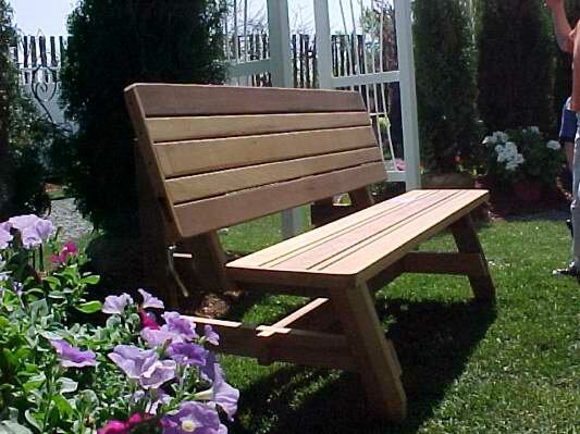 Herman Convertible Garden Bench by Wood Country