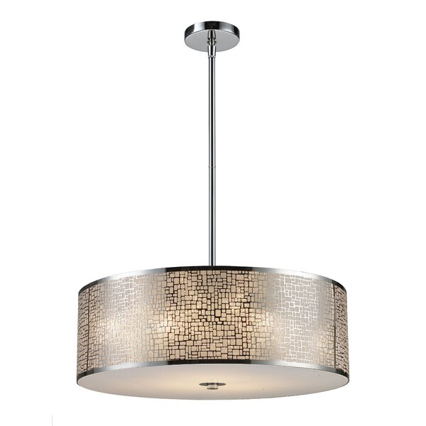 Pyla 5-Light Drum Chandelier by Bay Isle Home