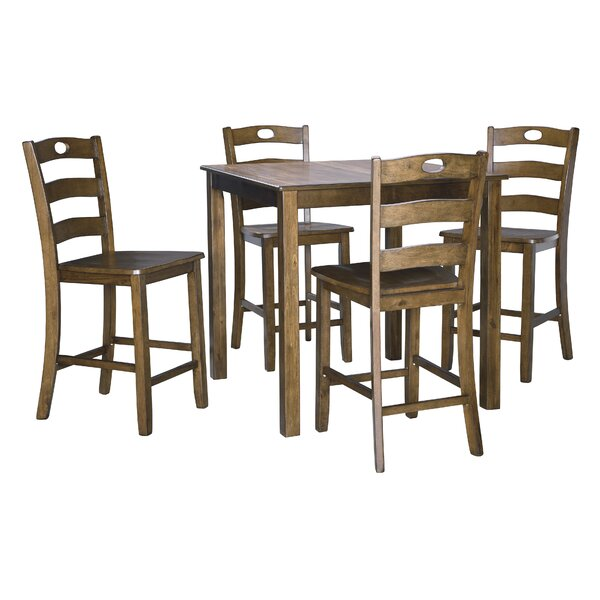Hedberg 5 Piece Counter Height Dining Set by Charlton Home Charlton Home