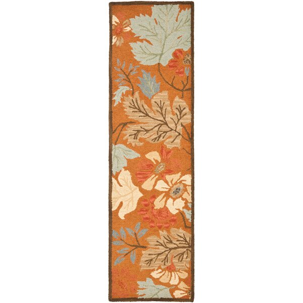 Ginger Orange Area Rug by August Grove