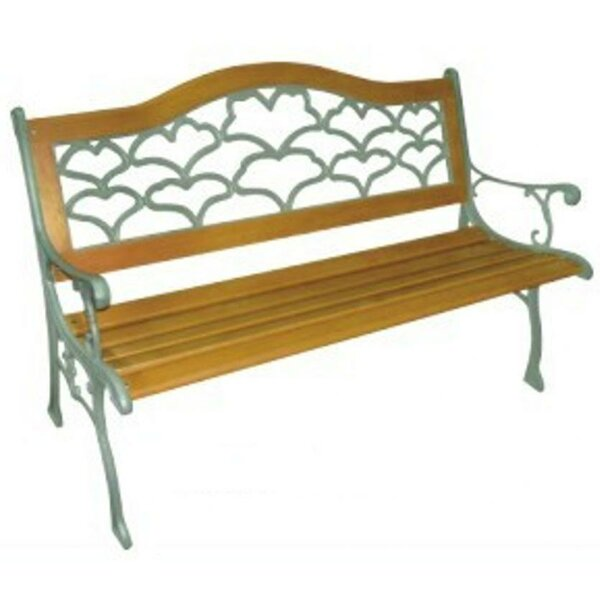 Sea Shell Wood and Cast Iron Park Bench by DC America