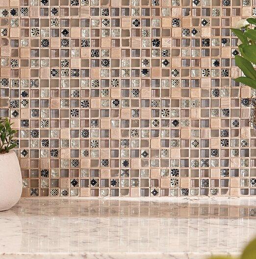 Treasure 12 x 12 Glass Mosaic Tile in Caramel Splash by Mohawk Flooring