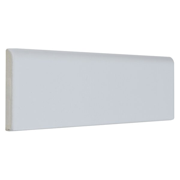 8.5 x 2.13 Ceramic Bullnose Tile Trim in Matte Arc