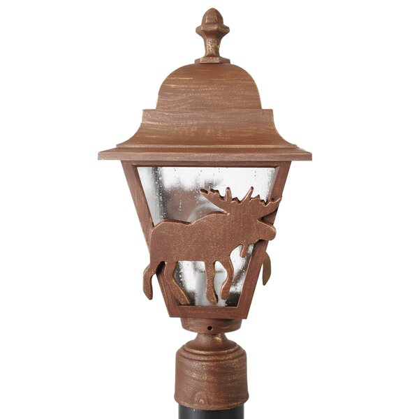 Penfield Moose Series 1 Light 18 Post Lantern by Alcott Hill