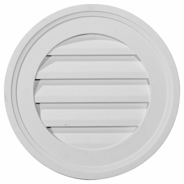16H x 16W Round Gable Vent Louver by Ekena Millwork