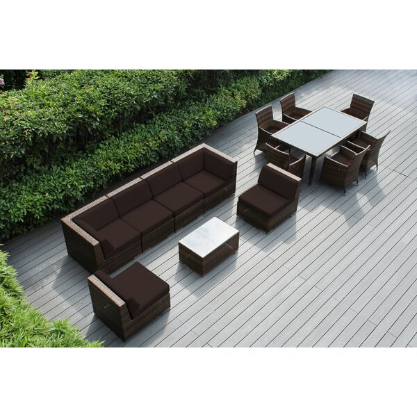 Ellenville 14 Piece Complete Patio Set with Cushions by Ebern Designs