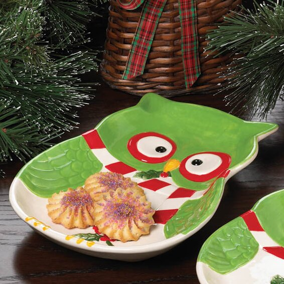 Holiday Hoot Large Platter by The Holiday Aisle