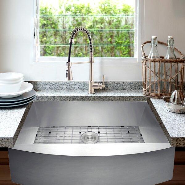 33 L x 20 W Farmhouse Kitchen Sink with Faucet