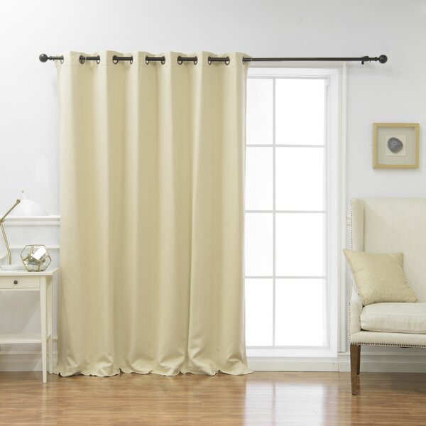 Scarsdale Extra Solid Blackout Thermal Grommet Single Curtain Panel by Alcott Hill