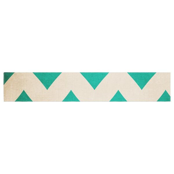 Catherine McDonald 2013 Chevron Table Runner by East Urban Home