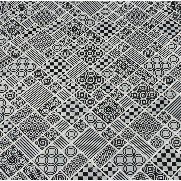 Tetris Nero Random Sized Marble Mosaic Tile in Black/Gray by MSI