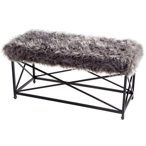 Ushanka Wood/Metal Bench by Cyan Design