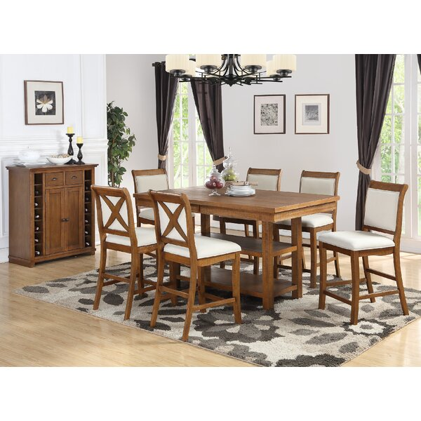 Courson 7 Piece Counter Height Dining Set by Rosecliff Heights